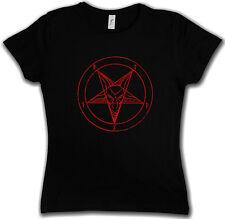 BAPHOMET PENTAGRAM SIGN WOMAN T-SHIRT - Aleister Crowley Pentagramm Satan Circle