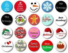 """Navidad (Varios Diseños) - 1"""" / 25mm Botón Insignia - Elegir Entre 20 Muy monos"""