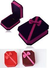 Deluxe Butterfly VELVET Necklace Pendant Earrings Presentation Jewelry Gift Box
