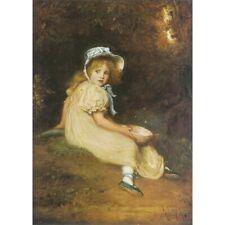 Little Miss Muffet - J E Millais Print
