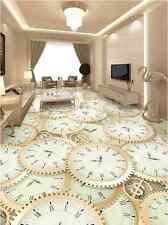 3D Orologio Sawtooth 743 Floor Wall Paper Murales Muro Carta Da Parati Stampa AJ UK Limone
