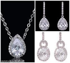Stunning Cubic Zirconia Quality CZ Drop Fashion Bridal Bride Wedding Earrings