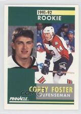1991-92 Pinnacle #332 Corey Foster Philadelphia Flyers RC Rookie Hockey Card