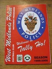 13/11/1999 West Midlands Police v Oldbury United [FA Vase] . Item In very good c
