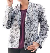 Women's winter Fall Spring 100% leather Snake Print Jacket coat plus18W22W 1X 2X
