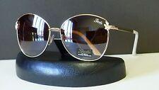 Giselle Eyewear Womens Vintage Retro Metal Oversized Oval Sunglasses + Soft Bag