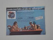 advertising Pubblicità 1969 SPORTYAK