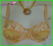Soutien Gorge MIRIALE Jaune Orange 85B ou 90C ou Slip ou String AA25
