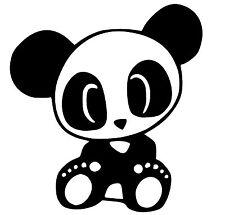 Sticker Vinilo - Oso Panda - Nuevo Diseño - Vinyl - Pegatina - Wall Art Decall