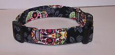 Wet Nose Designs Goth Sugar Skulls Dia De Los Muertos Dog Collar DOTD Calavera