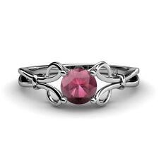 Rhodolite Garnet Solitaire Engagement Ring 1.00 ct 925 Sterling Silver JP:34475