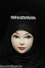 damas novia graduación Cristal Diamante Tiara Hijab bisutería Cabeza Pelo Banda