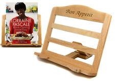 Personalised Adjustable Premium Rubberwood Cook Book Stand, Laser Engraved