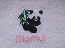 PANDA et Nom Personnalisable brodé sur Serviettes Peignoir De Bain Capuche