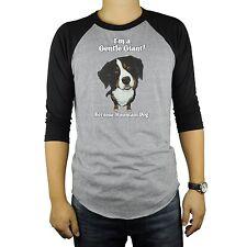 Bernese Mountain Dog Baseball Raglan T-Shirt Tri Blend Soft Fitted Tee Cute
