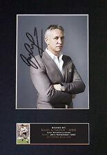 Gary Lineker montado reproducción de foto firmada autógrafo impreso A4 643