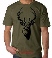 Deer stag hunter buck elk antler chasse t-shirt s-xxl tee
