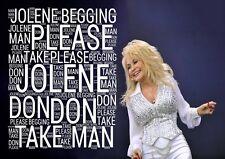 Dolly Parton - Jolene lyrics Poster A3 A4 Or Laminated