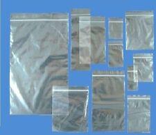 GRIP SEAL SACCHETTI SELF RICHIUDIBILI MINI Grip poli in Plastica Trasparente Zip Lock [tutte le taglie]