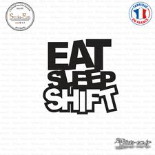 Sticker JDM Eat Sleep Shift Decal Aufkleber Pegatinas D-171 Couleurs au choix