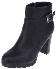 Retro CLASP High Heels BOOTIES Stiefeletten mit Schnalle Rockabilly