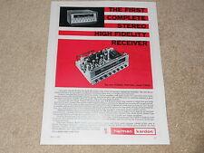 Harman Kardon Stereo Festival Tube Receiver Ad, 1959, 1 pg, Articles, TA230