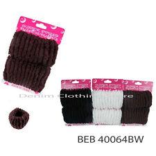 12pcs Hair Tie Bun maker Donut  Solid Colors Ponytail Holders Scrunchies Up Lot