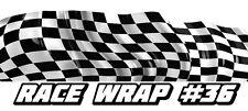 RACE CAR GRAPHICS #36, Half Wrap Vinyl Decal IMCA Late Model Dirt Trailer Truck