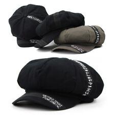 Unisex Mens Womens Tape Stitch Baker Boy Cabbie Gatsby Flat Cap Newsboy Hats