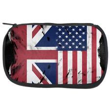 British UK American USA Flag Makeup Bag