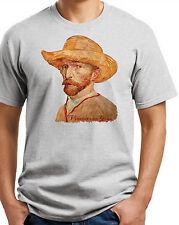 Vincent van Gogh T-shirt.  #2 Ash Gray, Sand, White. Sizes: Small thru XXXL.