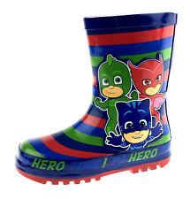 Boys PJ Masks Rubber Wellington Boots Kids Rain Snow Wellies Nursery Shoes Size