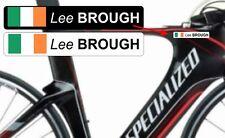 Personalised PACK OF 15 Road Bike Frame Cycle Sticker Decal IRELAND IRISH FLAG