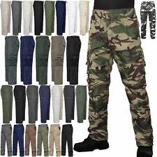 NUOVA linea uomo Pantaloni Elasticizzati Lunghezza Intera Estate Lavoro Cargo Combat Pantaloni Da Jogging