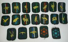 Scout Patrol Badges 1981 - 2001 animals / birds & colours