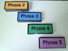 Réception classe / eyfs 100 premiers cartes flash haute fréquence, de nouvelles phases 2-5