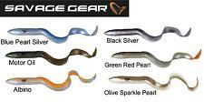 Savage Gear 3D Real Eel Gummifisch Aal, Kunstköder zum Spinnfischen, Wallerköder