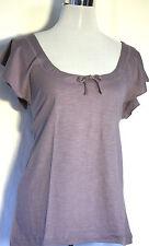Süßes T-shirt  flieder Damen B&C Baumwolle großer Ausschnitt Flatterärmel