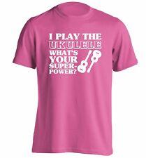 Ukulele superpower t-shirt play strum banjo instrument lyrics musician 4004