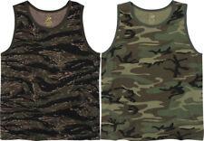 Vintage Camo Military Tank Top Tactical A Shirt Army Camo Muscle Sleeveless Tee