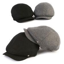 XL~2XL 61~63Cm Unisex Mens Wool Baker Boy Newsboy Cabbie Flat Cap Gatsby Hats