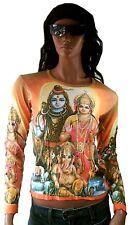 SHIVA GANESHA PARVATI Hindu Gods Family Goa Beach Dj Party Religion T-SHIRT S