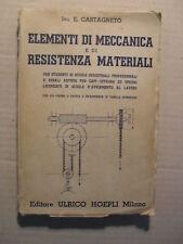 CASTAGNETO ELEMENTI DI MECCANICA ED. HOEPLI
