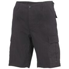 MFH Hombres Pantalón Cortos Bermudas US BDU Ejército Algodón Ripstop Negro