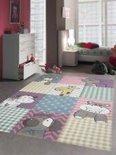 Kinderteppich Spielteppich Kinderzimmer Teppich niedliche Bunte Tiere mit Kontur