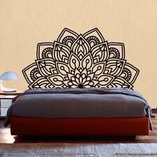 Vinilo adhesivo pegatina estilo hindu indio dormitorio CABECERO MANDALA FLORAL