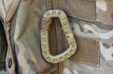 2 x ABS Tactical Carabiners MOLLE Webbing, helmet clip Green, Black or Tan