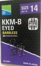 PRESTON INNOVATIONS KKM-B  BARBLESS EYED HOOKS - for POLE, FEEDER & WAGGLER