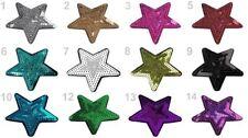 """Aufbügelbild """"Stern"""" mit Pailletten 70mm Patch Aufbügler Aufnäher Bügelbild Star"""