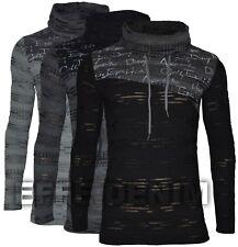 Maglia uomo Manica Lunga T-shirt Collo sciallato M L XL XXL nuovo 1762